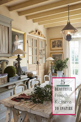 Come tour these beautiful French kitchens!