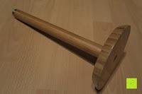 schräg unten: Lumaland Cuisine Küchenrollenhalter aus Bambus mit Edelstahl Spitze, Ø ca. 14 cm x 32 cm