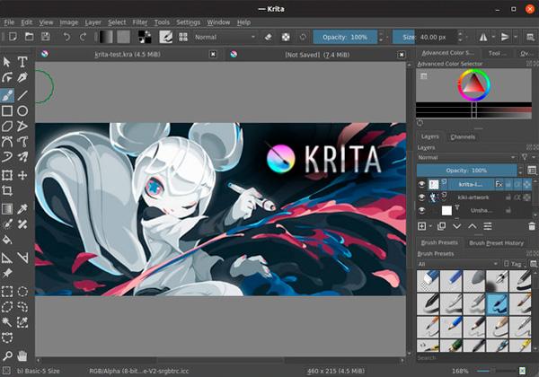 Krita 4 Interfaz