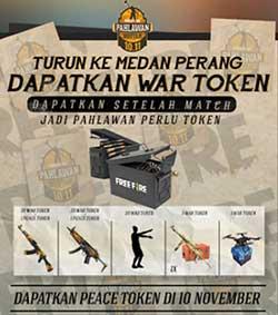 Dapatkan Token Peace Emblem FF