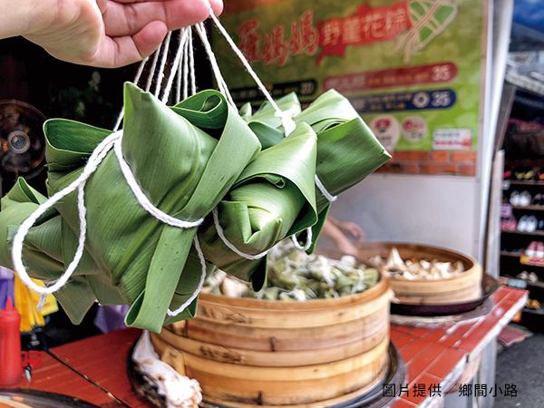 野薑花粽的香氣,主要來自晒乾研磨根莖製成的調味粉。