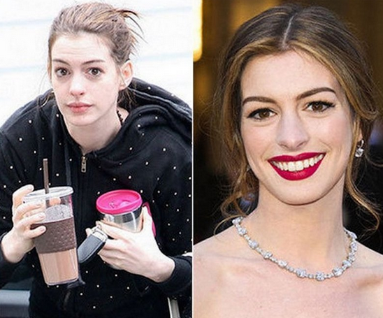 Anne Hathaway Tanpa Make Up