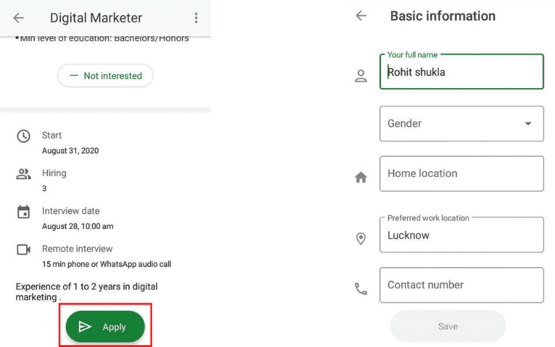 Google-Kormo-jobs-App-me-job-ke-liye-kaise-apply-kare 1
