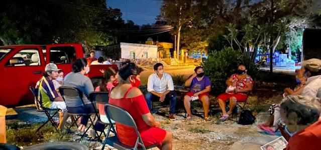 David Castro a favor de los ejidatarios de Xcanatun para evitar despojo del campo deportivo