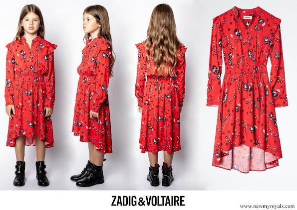 Princess Estelle wore Zadig&Voltaire Karolina Enfant Dress