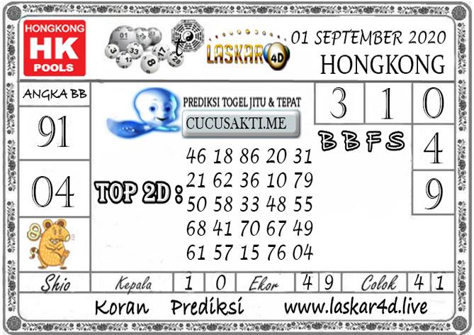 Prediksi Togel HONGKONG LASKAR4D 01 SEPTEMBER 2020