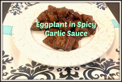 vegan eggplant in garlic sauce