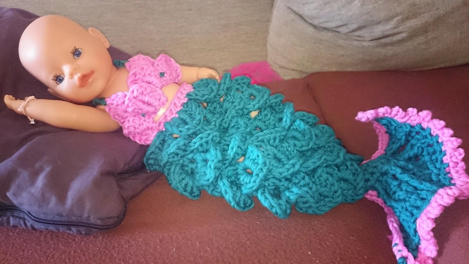 Meerjungfrau Newborn Gehäkelt