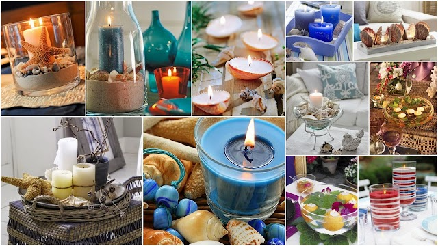 Kαλοκαιρινές Συνθέσεις με Κεριά