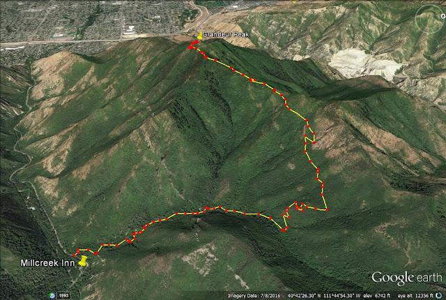 Grandeur Peak trail map