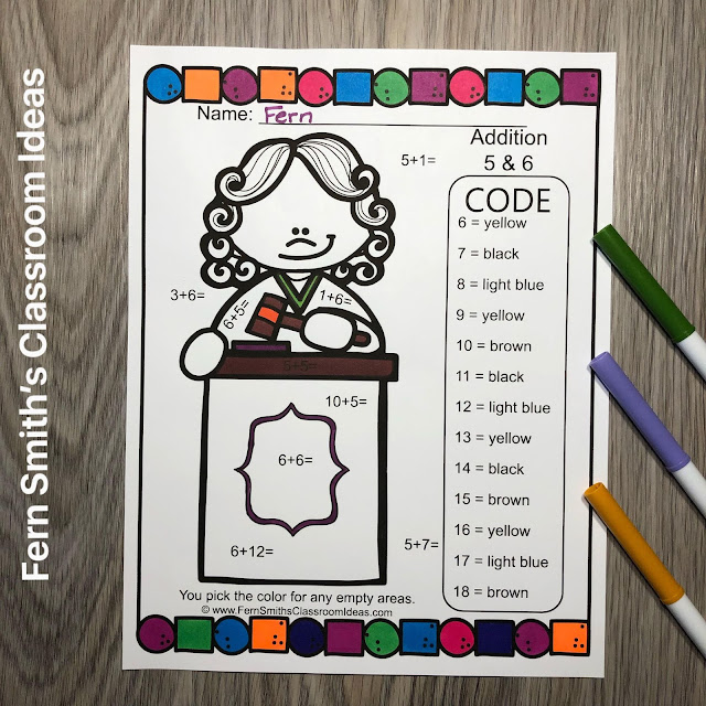 Click Here to Download This Community Helpers Career Themed Color By Number Addition and Subtraction Resource Bundle For Your Class Today!