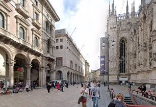 Milan's La Rinascente department store is in Piazza Duomo, opposite the cathedral itself