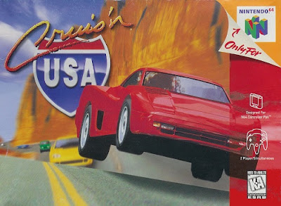 Front cover of Cruis'n USA for the Nintendo 64.