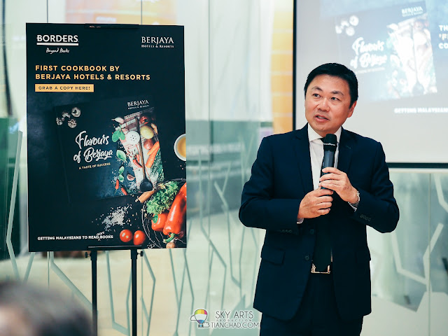 Mr Hanley Chew (CEO of BHR)  at 'Flavours of Berjaya' Cookbook Launch
