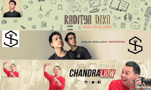Ini Dia 11 Youtubers Dengan Subscriber Terbanyak di Indonesia