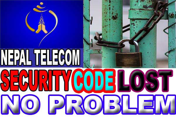 NTC security code - How to get ntc security code if lost or forget