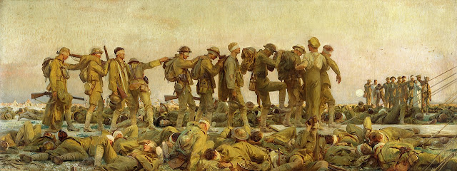 John Singer Sargent's painting Gassed of World War One soliders