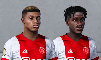 PES 2021 Faces David Neres & Lassina Traore by Owen31