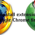 حذف الاضافات من متصفحات فايرفوكس و جوجل كروم