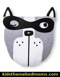 Masked Dog Throw Pillow   Superheroes bedroom ideas