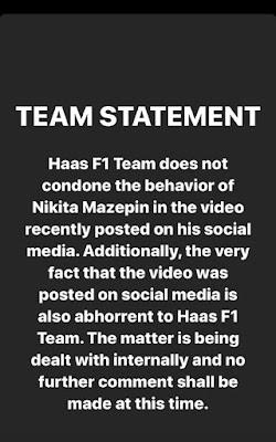 Nikita Mazepin Instagram Story