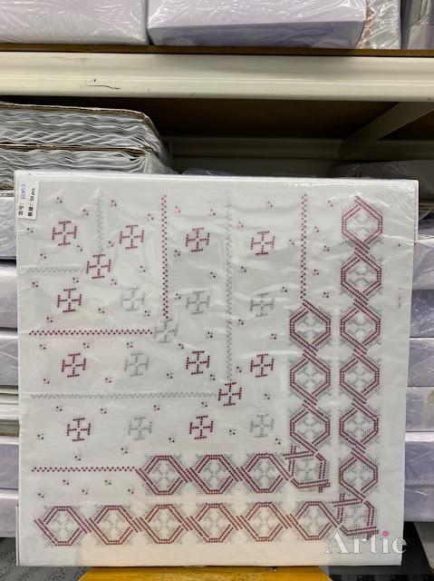 Hotfix stickers dmc rhinestone aplikasi tudung bawal fabrik pakaian bentuk abstrak hexagon maroon line silver