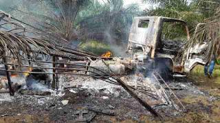 Mobil Panglima KPA Kuta Makmur Ditembak dan Dibakar OTK