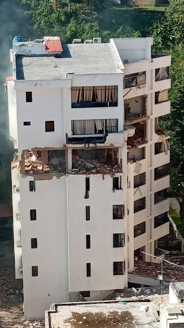 Estalló un apartamento en la Urbanización El Bosque