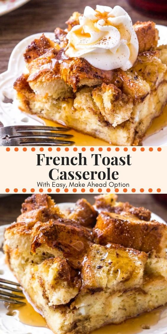 French Toast Casserole #recipes #baking #bakingrecipes #food #foodporn #healthy #yummy #instafood #foodie #delicious #dinner #breakfast #dessert #lunch #vegan #cake #eatclean #homemade #diet #healthyfood #cleaneating #foodstagram