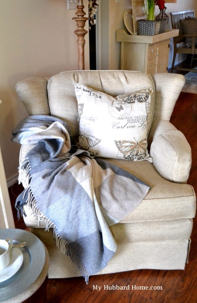 Reupholstering the Chair by My Hubbard Home featured at Pieced Pastimes
