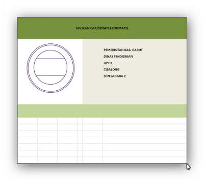 Aplikasi Stempel Otomatis Format Excel Terbaru 2016