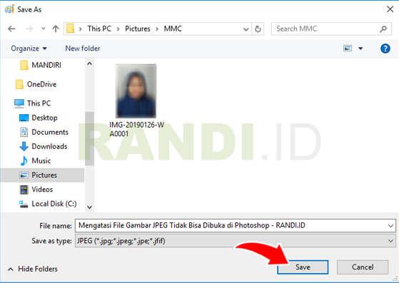 Mengatasi Foto Gambar WA Error di Photoshop