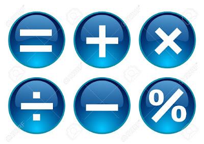العلامات الحسابية بالانجليزى