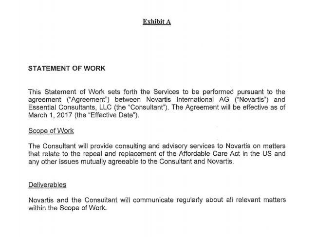 discoveries in health policy statement of work for michael cohen s