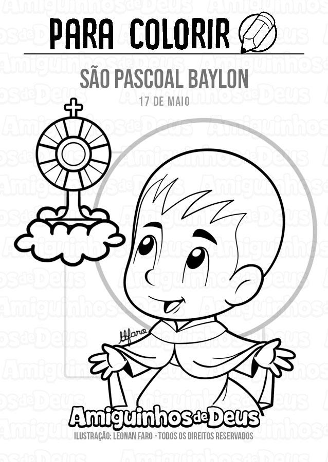 São Pascoal Baylon desenho para colorir