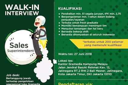 Info Lowongan Kerja PT. Gramedia Asri Indonesia Juni 2018