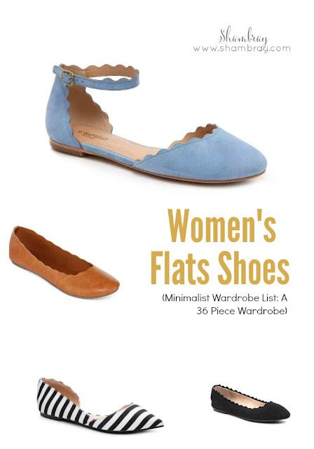 Women's Flats Shoes (Minimalist Wardrobe List: A 36 Piece Wardrobe)