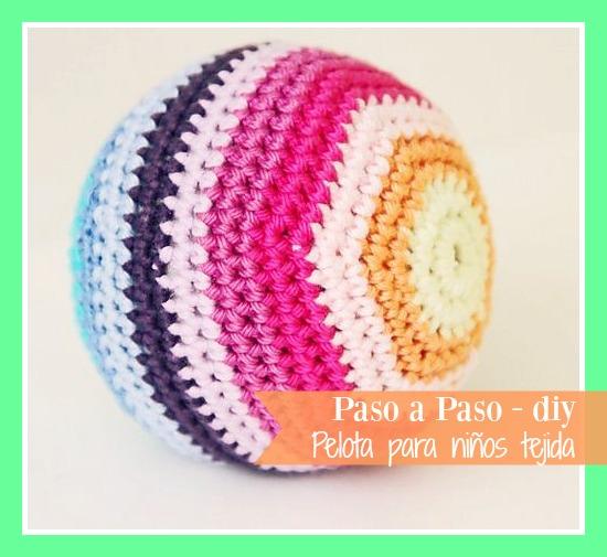 cómo hacer una pelota tejida
