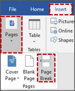 Cara 1 Menyisipkan Page Break Secara Manual