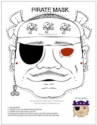 Talk Like a Pirate Day mask