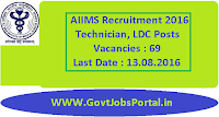 AIIMS Recruitment 2016