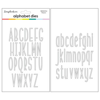 Tall Skinny Alphabet-Upper and Lower Dies