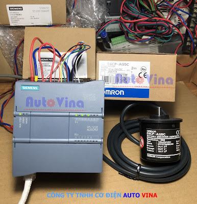 Lập trình PLC Siemens S7-1200 đọc tín hiệu Encoder tuyệt đối E6CP-AG5C hãng Omron