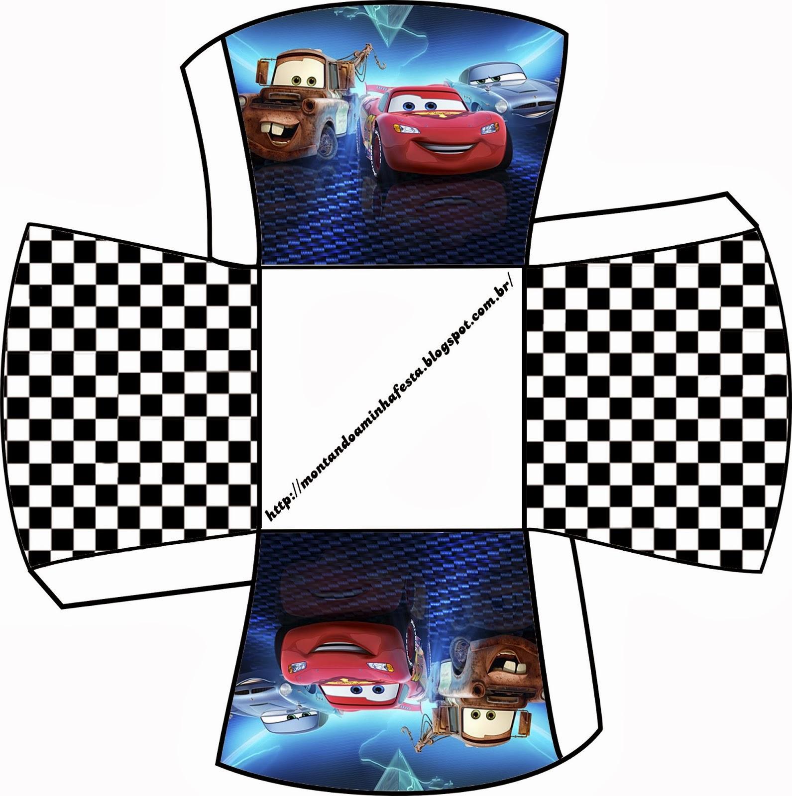 Cars: Cajas Para Imprimir Gratis.