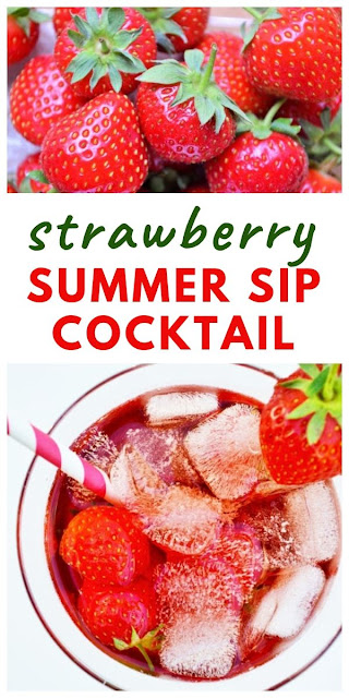 A sweet cocktail with the taste of Summer. Just enough for one, although feel free to multiply the quantities and make a jugful. Made with Pimms or summer cup, a gin liqueur. #cocktails #pimms #strawberrycocktail #strawberrypimms #summercocktails #summerdrinks #summerrecipes #strawberries