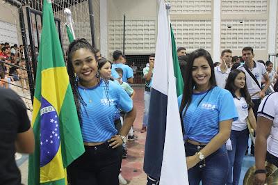 Resultado de imagem para fotos da aberturas dos jogos estudantis de sao paulo do potengi 2018