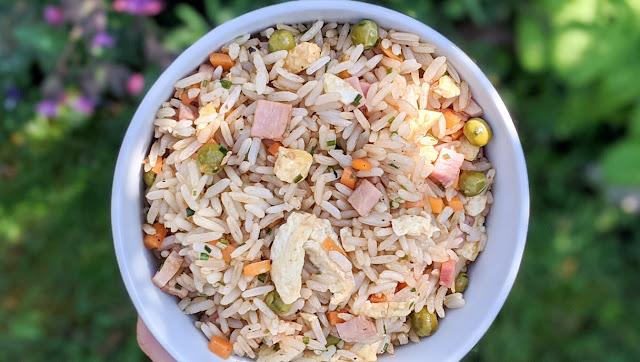 recette, riz cantonais, rapide, économique, traditionnel, jambon, riz