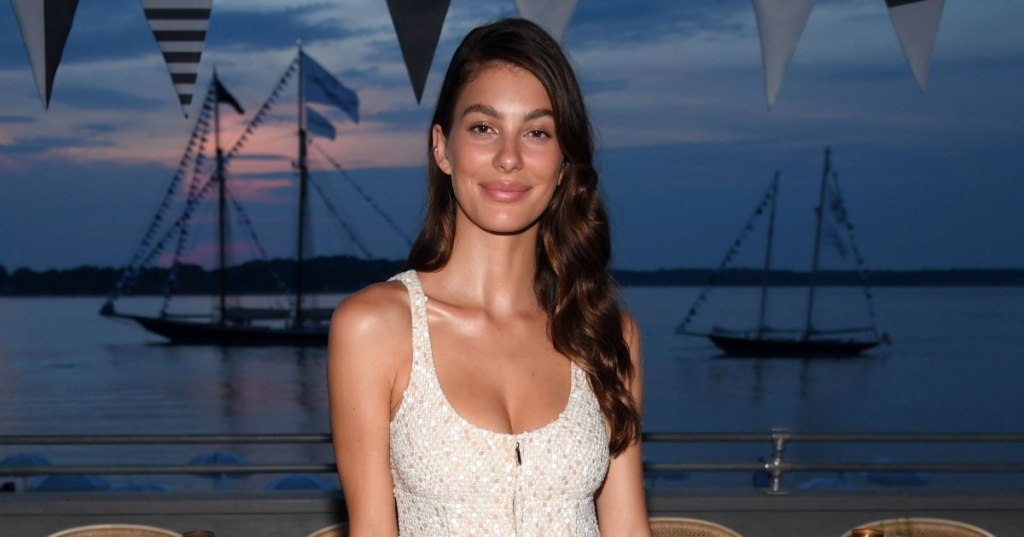 Camila Morrone puts cleavage on show at the Chanel fashion show in NY