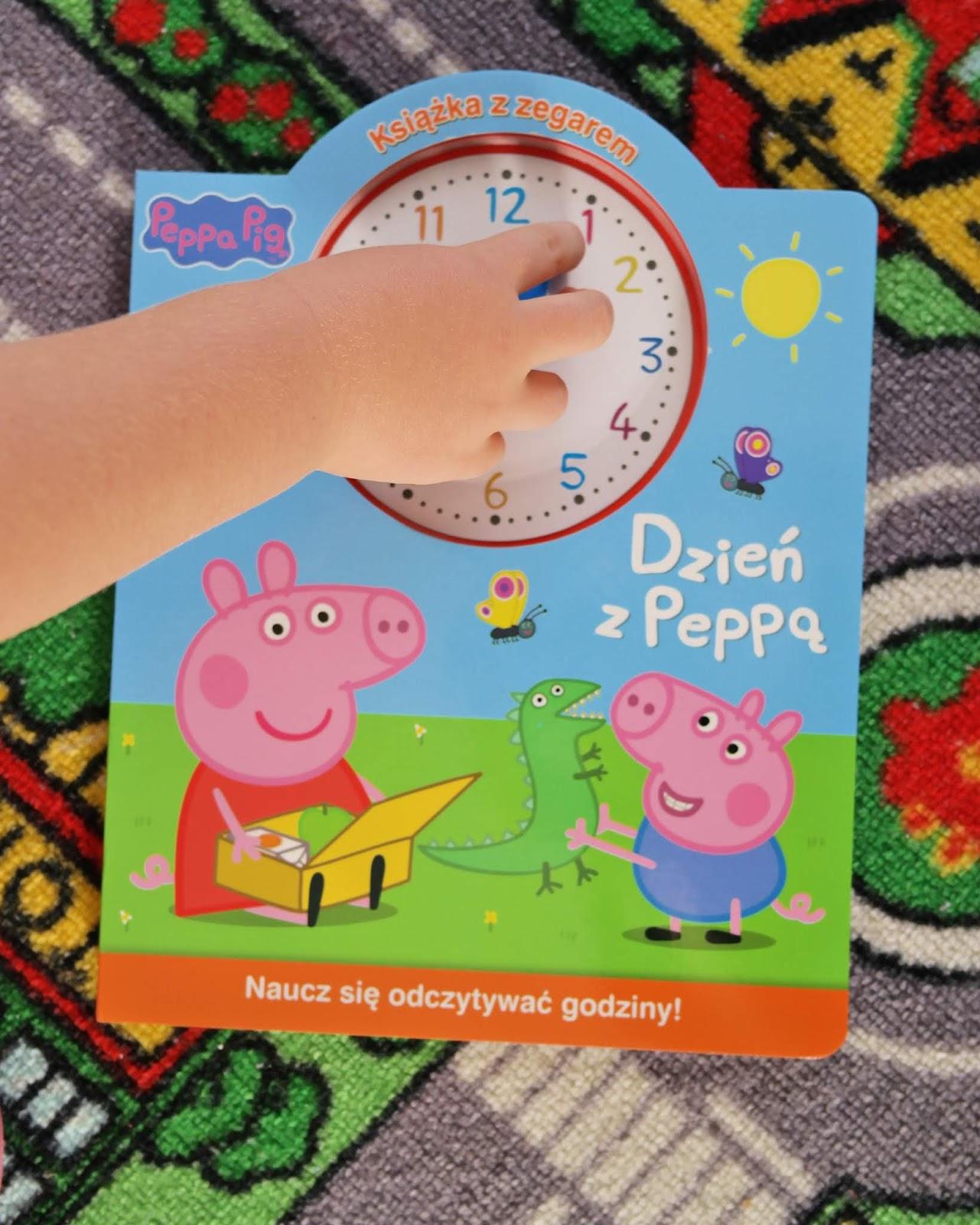 świnka peppa z zegarkiem