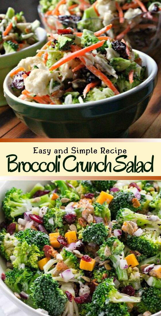 Broccoli Crunch Salad #vegan #vegetarian #soup #breakfast #lunch